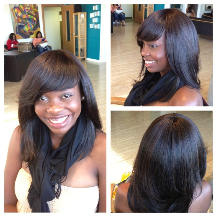 Full Sew in with Bangs No Leave Out