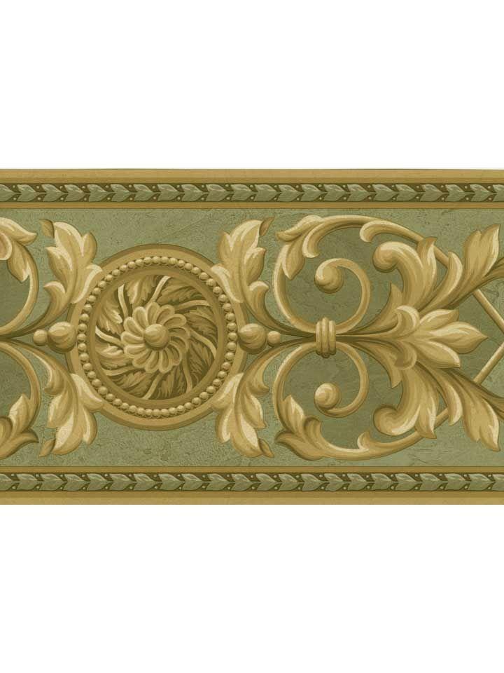 Arabesco crown wallpaper direct the widest range pic for Wallpaper borders