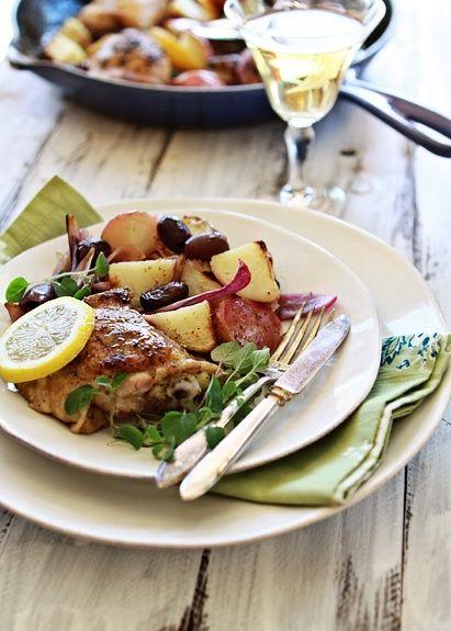 Greek-Style Chicken Skillet Dinner | Yummo | Pinterest