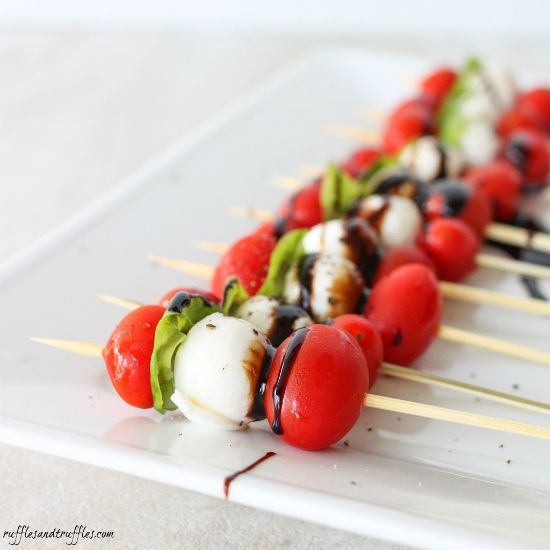 caprese kabobs | Food | Pinterest