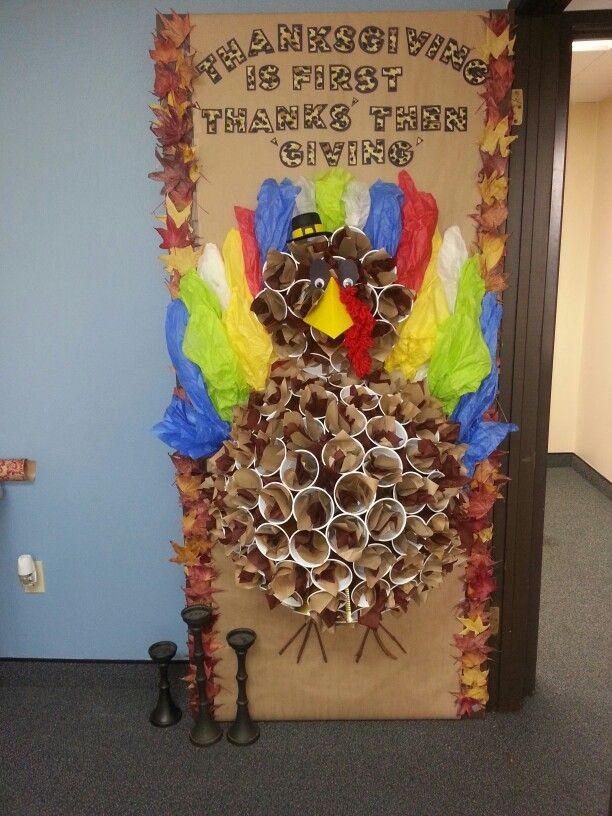 Thanksgiving door decoration ag amp medical hallway decor pinterest