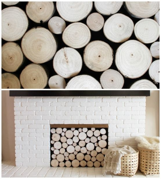 Birch logs in fireplace nest home decor ideas pinterest for Artificial logs for decoration