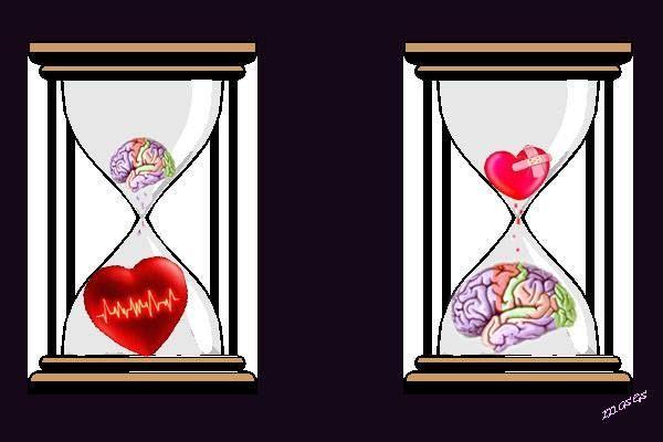 L'amore è come una clessidra: quando si riempie il cuore, si svuota il cervello. - Jules Renard -