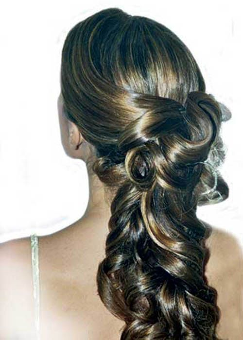 Long pony curls
