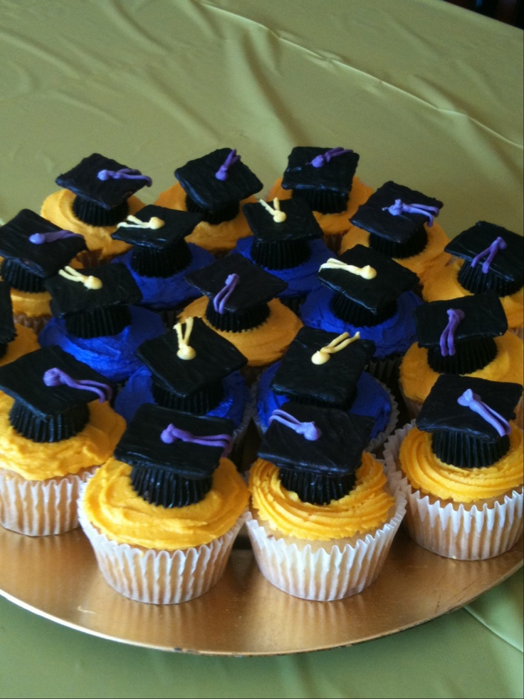 Cupcake Decorating Ideas Graduation Party : Graduation cupcakes. Party Ideas Pinterest