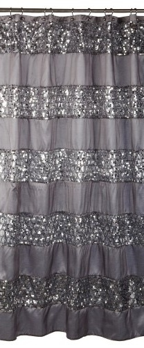 silver curtains