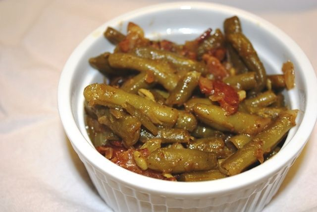 Cajun Smothered Green Beans - These were very good and I am not a fan ...