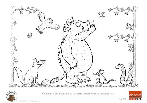 Free Coloring Pages Of Gruffalo Sheet To Print Gruffalo Colouring Pages