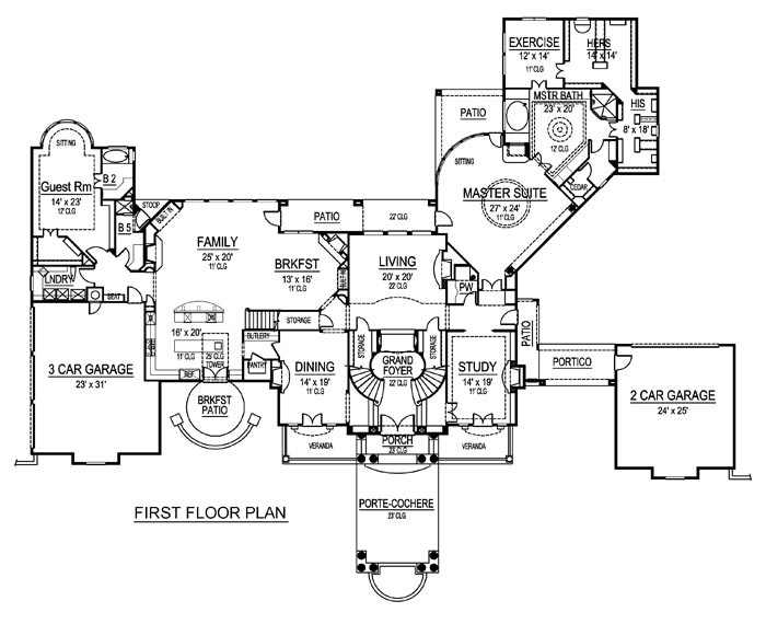 first floor plan palazzo di cresta architecture