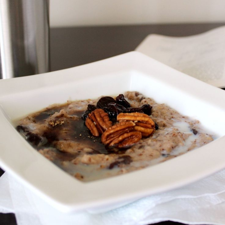 slow cooker steel-cut oatmeal with ground flax seed... all kinds of ...