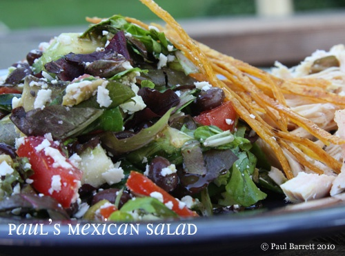 Mexican Chopped Salad. Here's a similar recipe: 4 handfuls mild salad ...