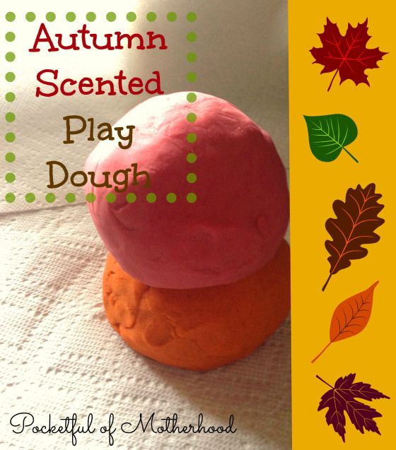 Make autumn-scented playdough to keep your kids entertained and fill your house with yummy smells like Pumpkin Pie and Cinnamon!