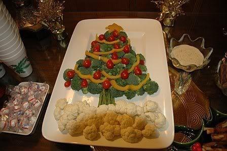 Christmas tree veggie tray getting ready for christmas pinterest