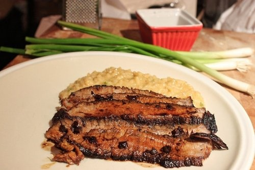 Balsamic Glazed Flank Steak with Ginger & Green Onion Risotto. http ...