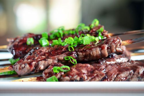 smashed steak skewers with cherry bbq sauce from nom nom paleo// this ...