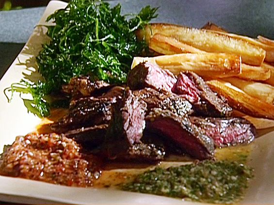 Skirt Steak with Chimichurri Sauce and Yucca Fries | Recipe