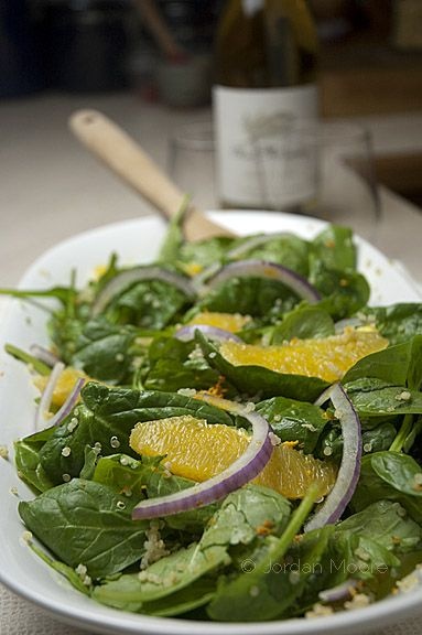 Meatless Monday: Valencia Orange, Quinoa and Spinach Salad