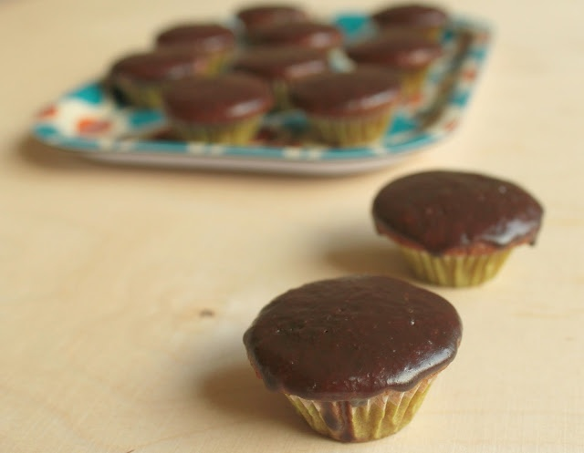 Gingerbread Muffins with Chocolate Glaze | Desserts | Pinterest