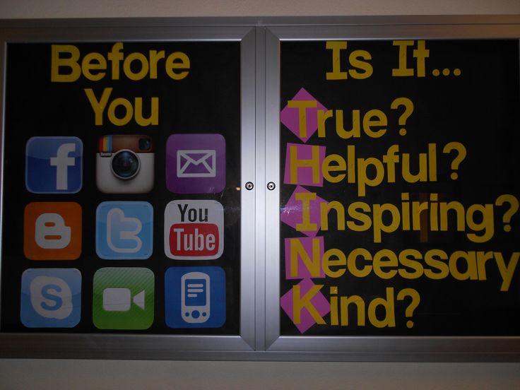 Bulletin board poster warning