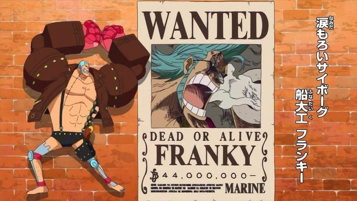 Franky wanted - One Piece | One Piece | Pinterest