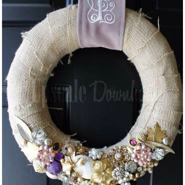 Chic diy vintage jewelry wreath