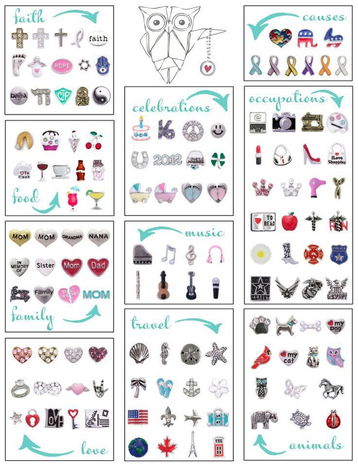 origami owl charms