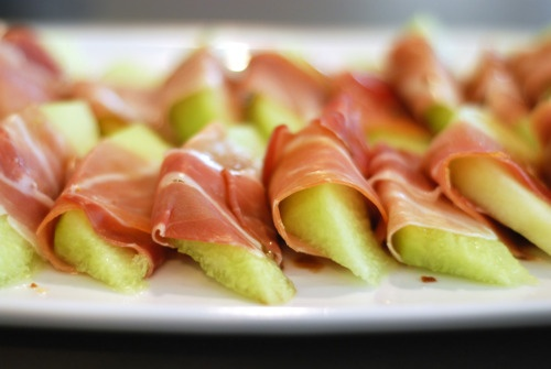 prosciutto wrapped melon | Eat, Drink and eat some more! | Pinterest