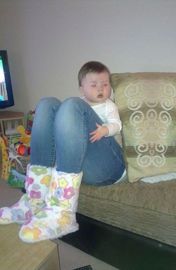 Baby big legs