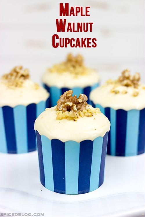 Maple Walnut Cupcakes   Cupcakes   Pinterest
