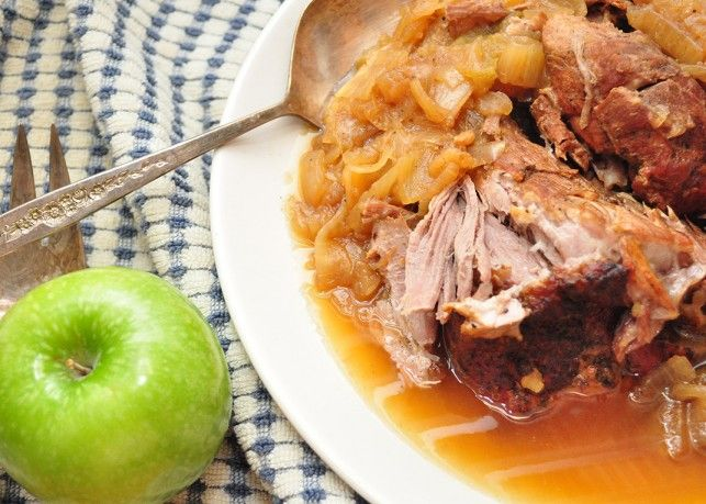 pork roast with apples and onions (for dutch oven)