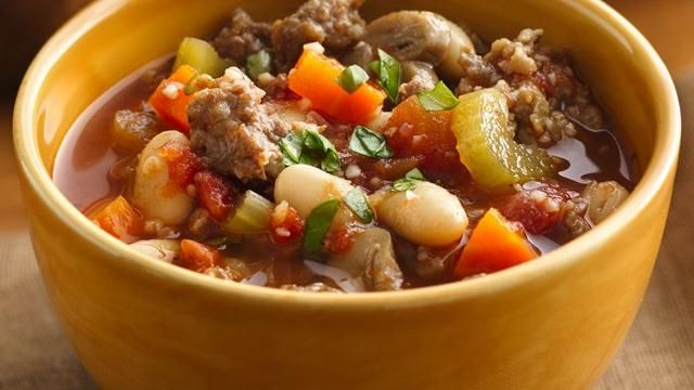 ... wholesome sausage and bean stew made using Progresso® products