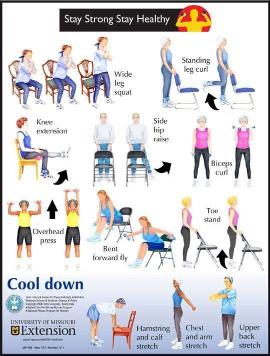 Chair exercises pt info pinterest for Chair workouts