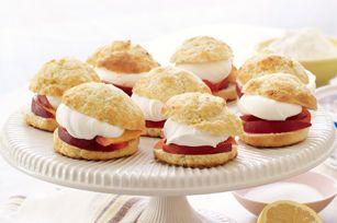 ... homerecipespeach shortcakes Peach Shortcakes (6) rate it now