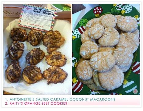 Salted caramel coconut macaroons & orange zest cookies