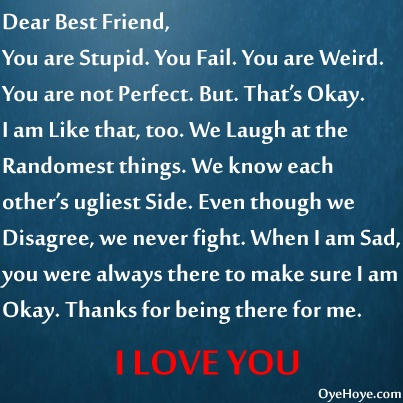letter to best friend about not Learn to write pleasant appreciation letter to a friend on his/her accomplishments with these wonderful samples of appreciation letter which help you create the best draft.