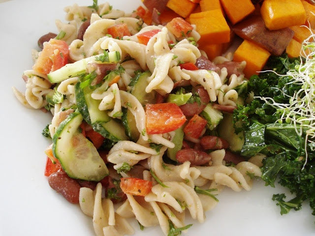 Summer Pasta Salad With Baby Greens Recipes — Dishmaps