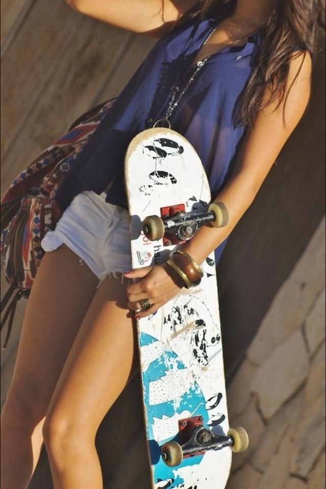Skater Girl Fashion Style Sports Fashion Pinterest