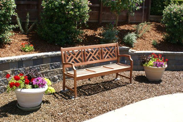 walkway bench garden ideas pinterest. Black Bedroom Furniture Sets. Home Design Ideas