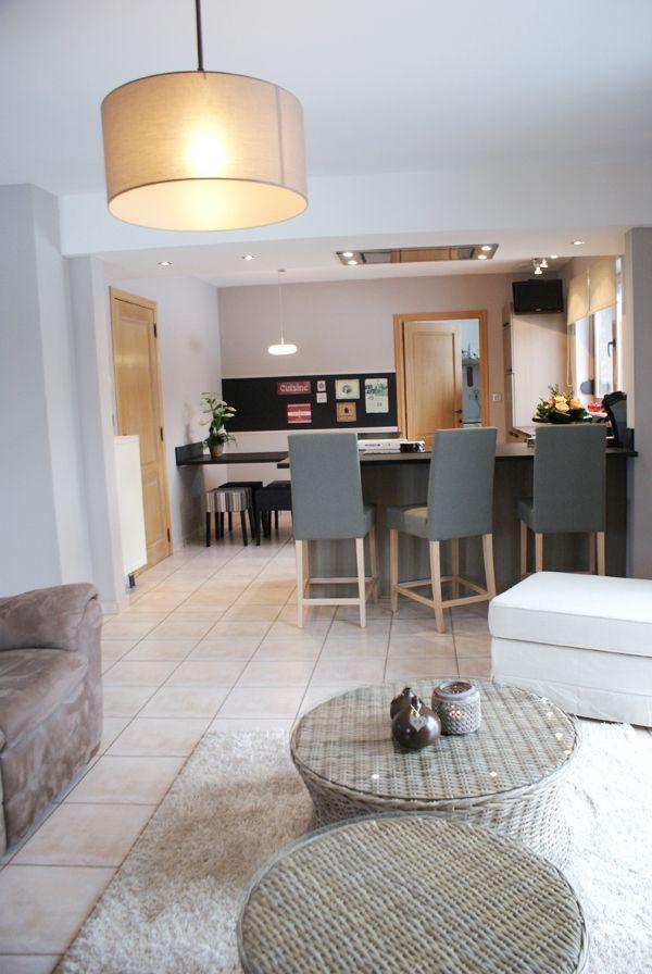Cuisine ouverte sur salon interior ambiance pinterest - Cuisine ouverte sur le salon ...