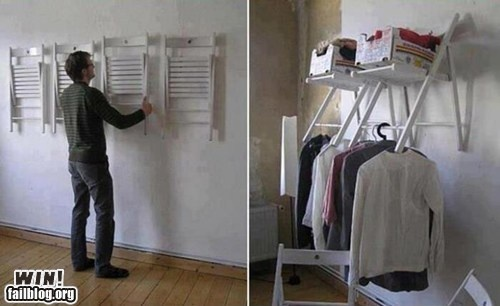 Another idea to hang clothes without a closet