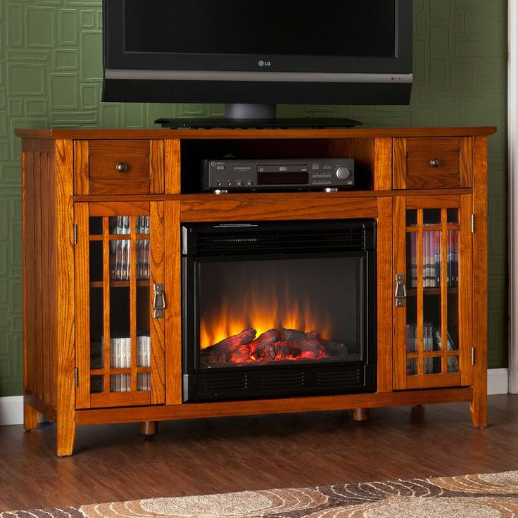 Breevort 52 Tv Stand With Electric Fireplace Home Pinterest