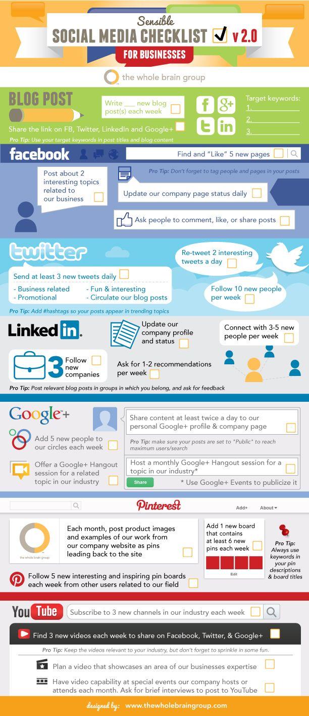 Social Media Checklist for Bus