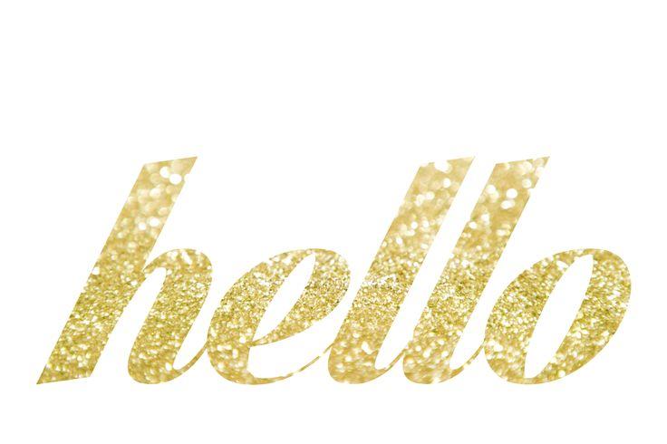 gold hello free #printable