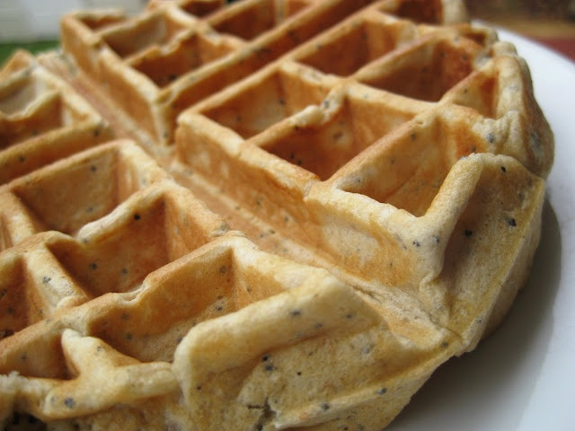 Lemon Poopy Seed Waffles: Made with yogurt instead of butter and honey ...
