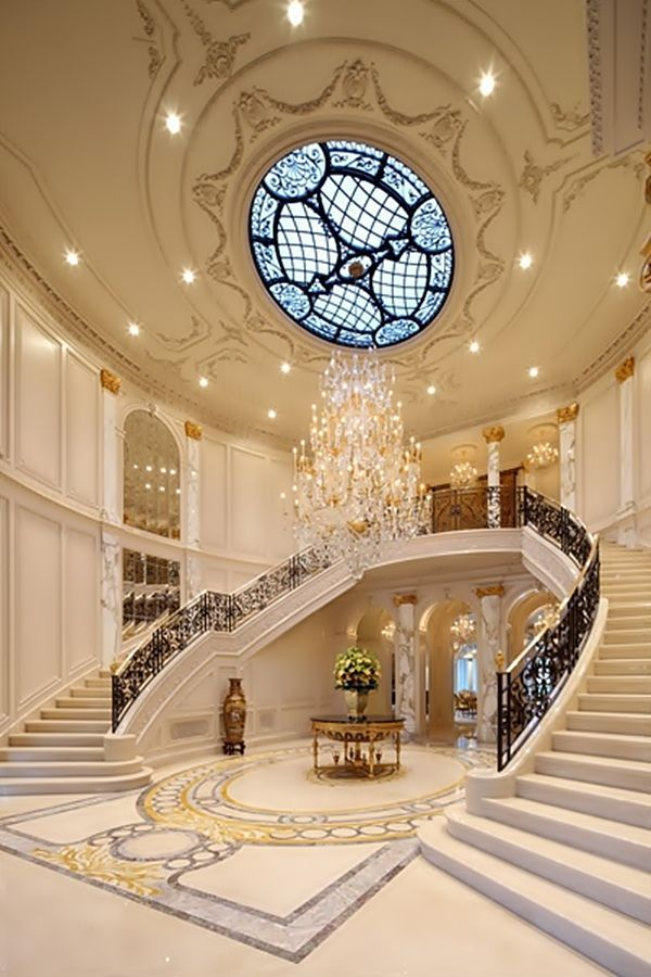 Grand foyer dream home pinterest for Luxury staircases