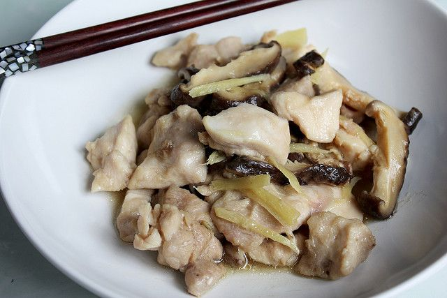Steamed Chicken and Shiitake Mushrooms by nooschi, via Flickr
