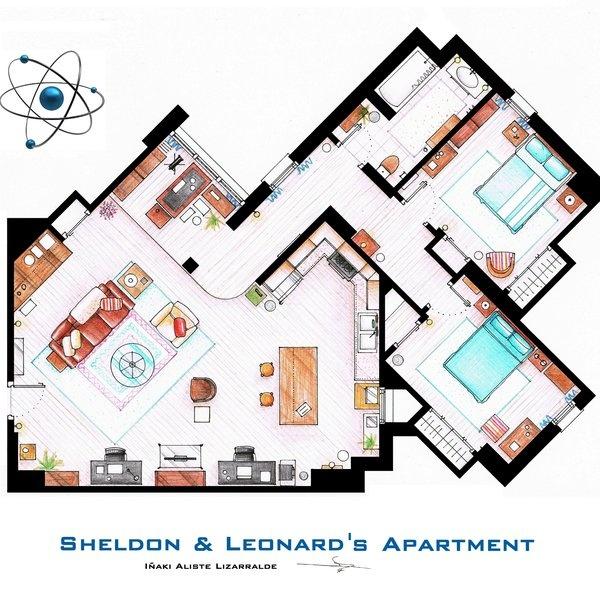 Big Bang Apartment Floor Plan Home Decor Ideas