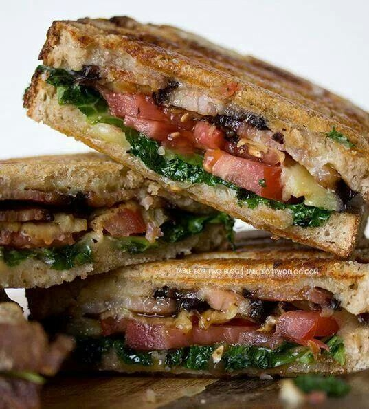 Kale, Grilled Garlic And Cheddar Panini Recipes — Dishmaps