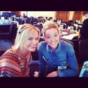 Katy Hill and Cherry Healey