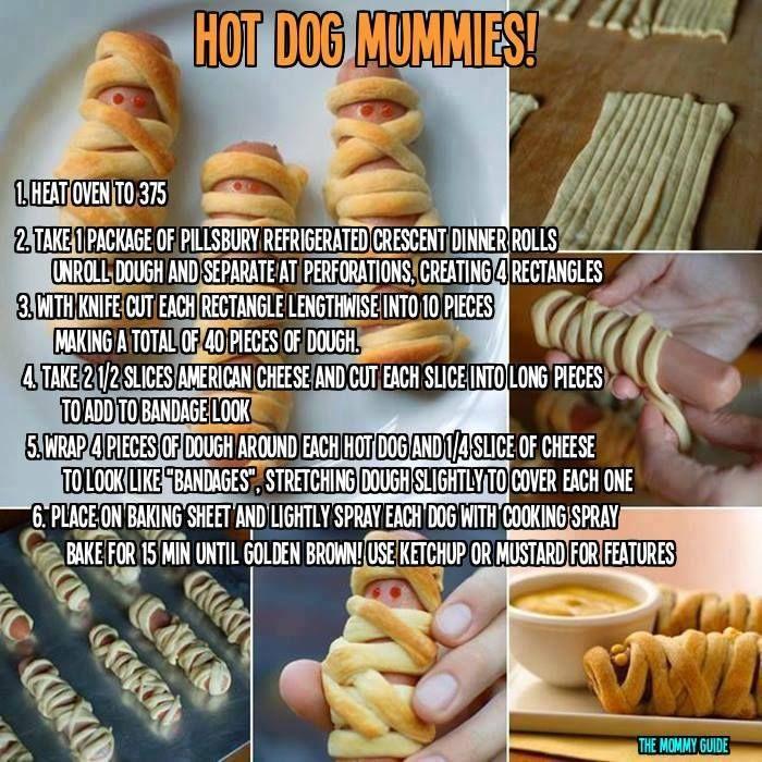 Halloween Hot Dog Mummies | It's Fall Ya'll! | Pinterest